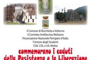 CGIL, CISL E UIL DEL MOLISE COMMEMORANO I CADUTI DELLA RESISTENZA E LA LIBERAZIONE DELL'ITALIA