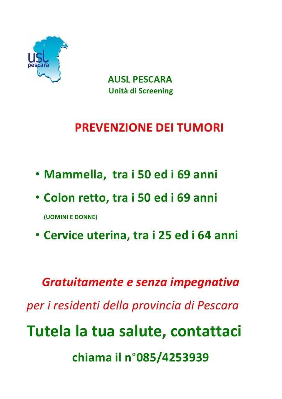 SCREENING PER LA PREVENZIONE DEL TUMORE AL SENO, ALLA CERVICE UTERINA E AL COLON RETTO