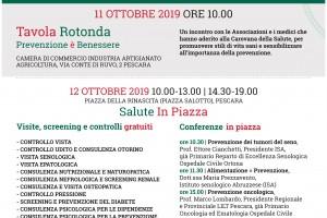 La prossima tappa della Carovana della Salute sarà il 12 ottobre a Pescara.Vi aspettiamo in piazza!