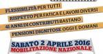 Le pensioni da cambiare e i presidi unitari: gli appuntamenti del 2 aprile in Abruzzo e in Molise