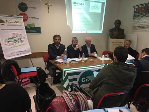 Fabio Benintendi  confermato Segretario Generale della FeLSA Cisl AbruzzoMolise