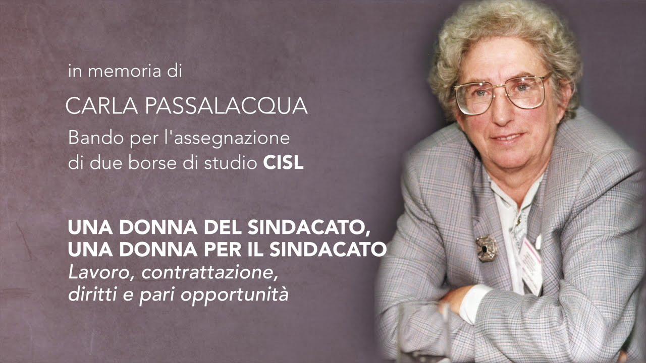 Bando per due Borse di Studio CISL in memoria di Carla Passalacqua